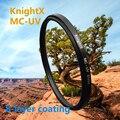 Knightx mc uv 49-77mm filtro para nikon canon eos 6d 100D 70D 700D 5D D5200 D5100 D3200 D3300 D3100 lente accesorios 1200d 52