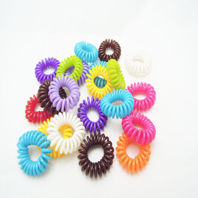 by DHL or EMS 100Bags 100pcs/bag Candy-colored Telephone Wire Cord Headband Girls Ties H ...