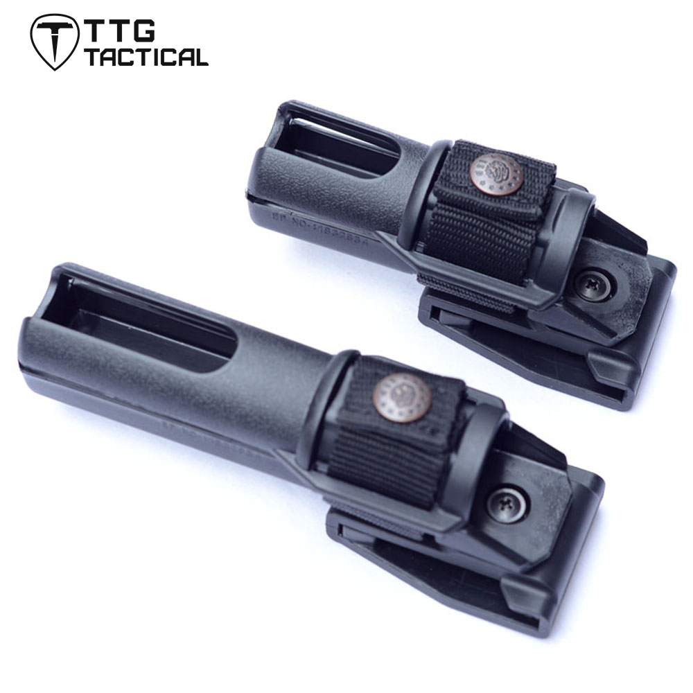 "TTGTACTICAL 21""~26"" Telescopic Baton Pouch Police Swivelling Fast Fix Baton Holders for Expandable Baton (Baton Excluded) Black"