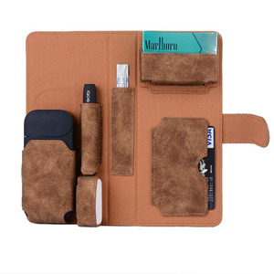 Image 4 - GIRLWOMAN Case for IQOS 2.4 PLUS Wallet Pouch Bag Protective Holder Cover Box Wallet Case Electronic Cigarette PU Leather Case
