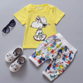 2016 New Arrive Baby Clothing Set Summer Cotton Cute Cartoon Newborn Clothes Boys Girls Short Sleeve T-shirt + Pants Kid Suit
