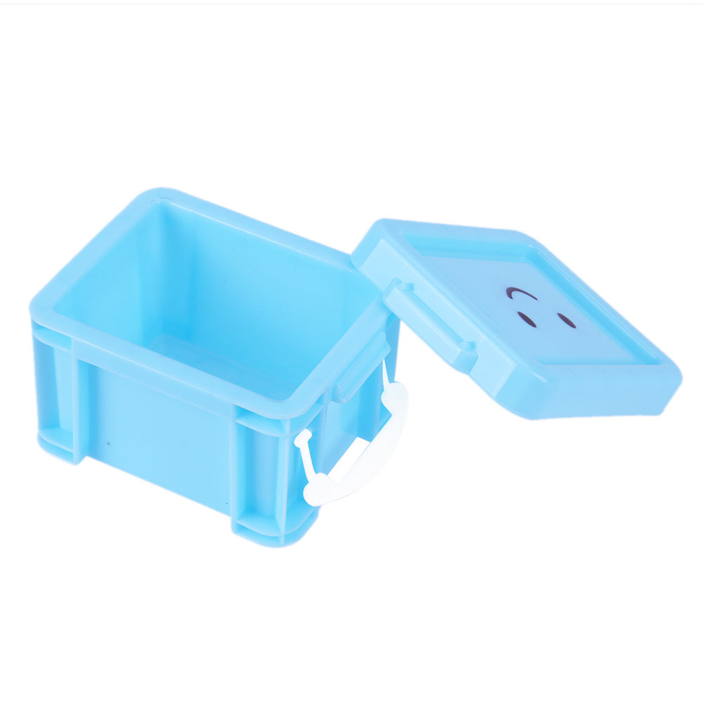 Plastic Storage Box For Storage Home Furnishing Trumpet Desk Container Candy Color Mini Lock Box Organizer Toy Basket
