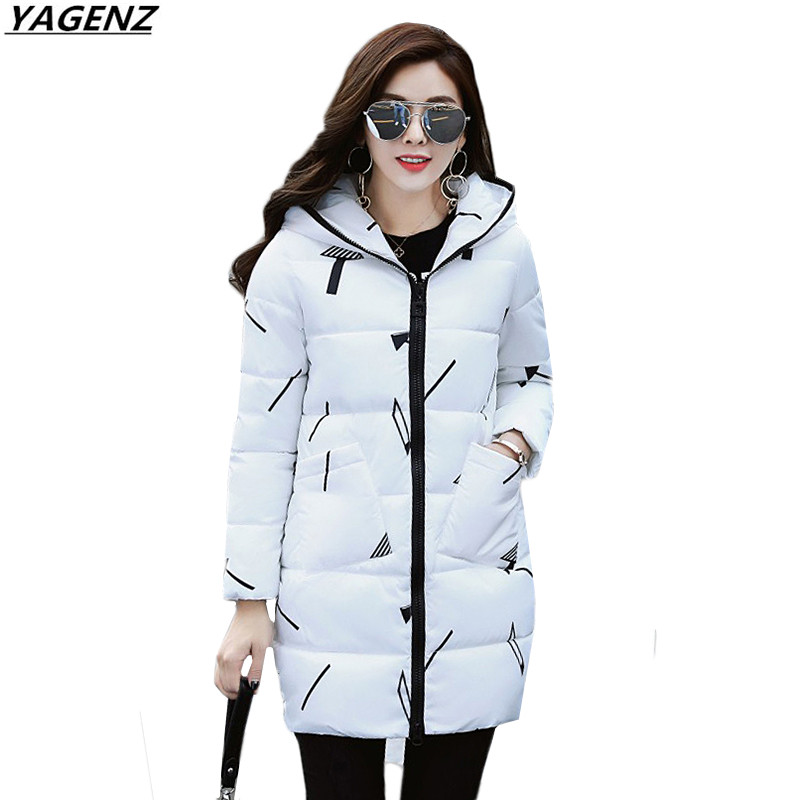 Winter Jacket Warm Down Cotton Jacket Women Clothing 2017 New Medium Long Outerwear Casual Large Size Student Coat YAGENZ K559 down cotton winter hooded jacket coat women clothing casual slim thick lady parkas cotton jacket large size warm jacket student
