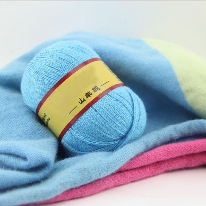500g/Bag Cashmere Yarn Hand Woven Fine Wool Sweater Scarf Line High Quality Baby Wool Yarn Hand made Crochet Yarn For Knitting