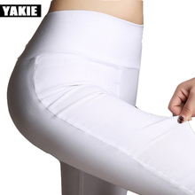 Candy color New Fashion 2017 Summer Plus Size 6XL White Pencil Pants capris Ladies Cotton High Waist Elastic female Trousers