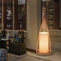 Новый китайский бамбук торшер гостиная Чай клуб японский Юго Восточной бамбук, декоративные настольные лампы Бесплатная доставка