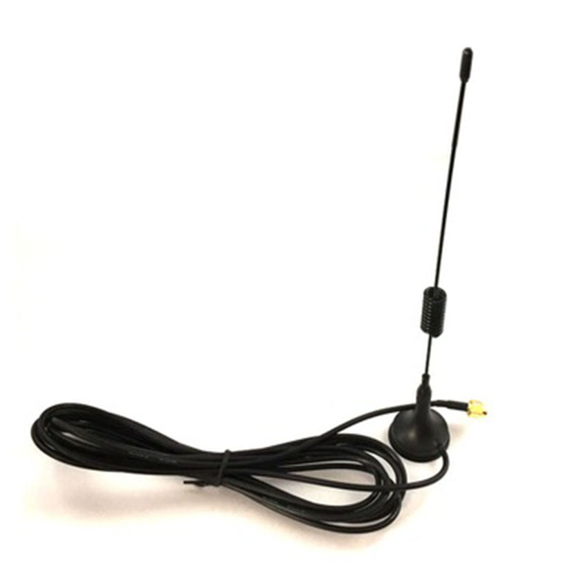 Black GSM GPRS Small Suction Cup <font><b>Antenna</b></font> 900-1800 <font><b>Mhz</b></font> 3dbi Magnetic Base 1.5M RG174 Cable Hot Sale SMA Male Plug Magnet Seat 3cm image