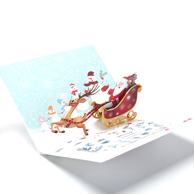 16155cm merry xmas 3d stags pop up card happy new year santa christmas