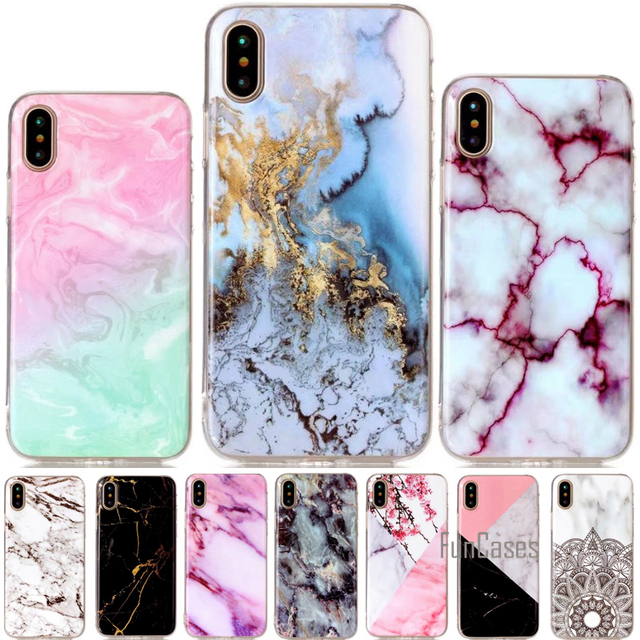 new concept a1469 a9049 US $3.64 27% OFF|For iphone X Case Granite Marble Skin Silicone Clear Soft  TPU Case For Apple iphone 10 Back Cover Phone Cases For iPhone8 Coque-in ...