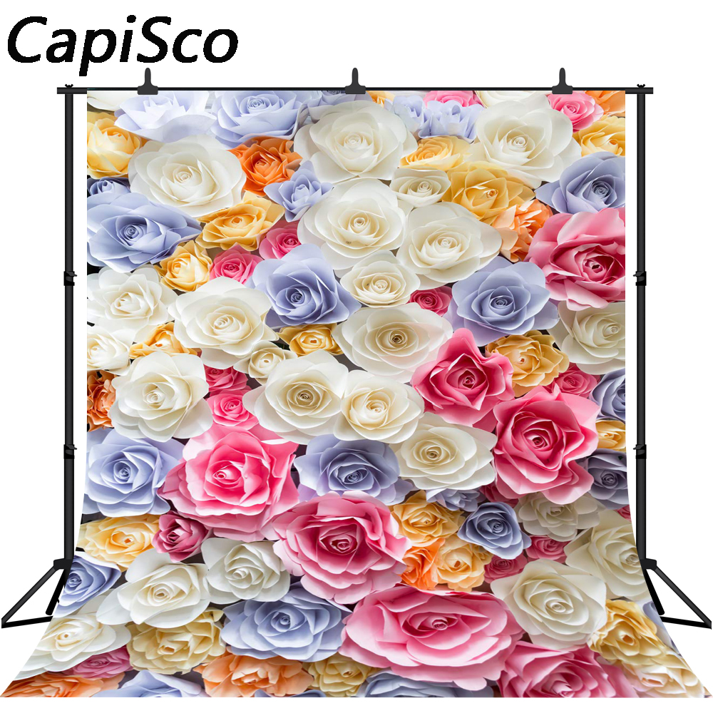 Capisco Vinyl Photography Backdrops Rose Flower Photo Background