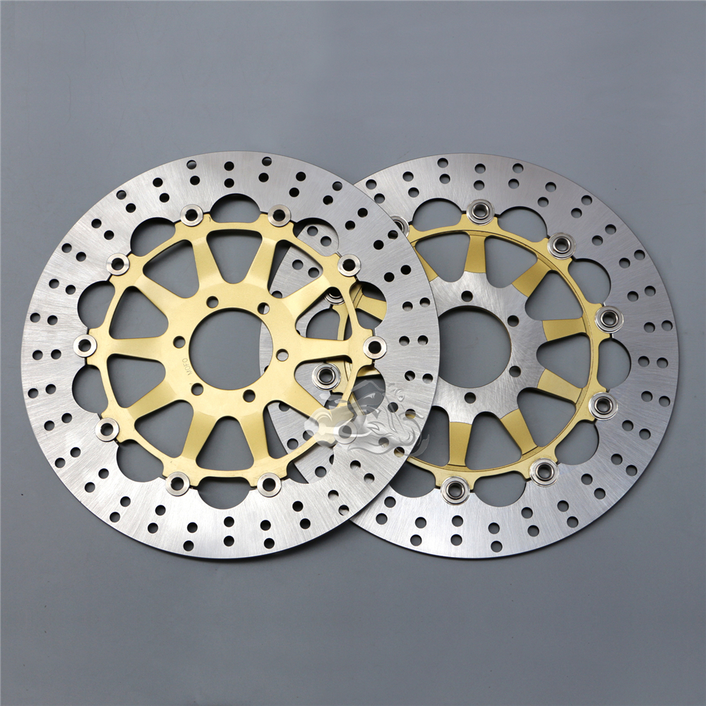 Floating Front Brake Disc Rotor For Motorcycle MOTO GUZZI Nevada 750 940 California 1100 V11 1100 Sport Griso f 16 dc 80 motorcycle brake clutch levers for moto guzzi breva 1100 norge 1200 gt8v 1200 sport caponord etv1000