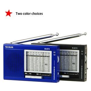 Image 5 - TECSUN R 911 Radio AM/ FM / SM (11 bandas) Receptor de transmisión de bandas múltiples con altavoz incorporado negro y azul barato y ligero
