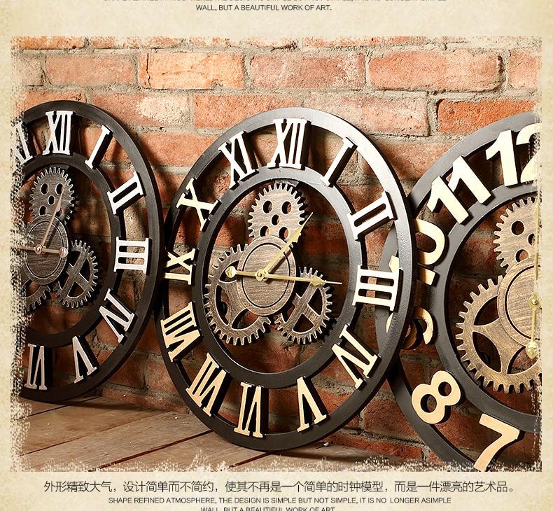 Handmade 3D retro rustic decorative luxury art