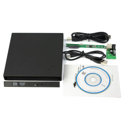 External USB2.0 Slim Case Enclosure 9.5mm SATA Laptop Tray CD DVD Drive Burner