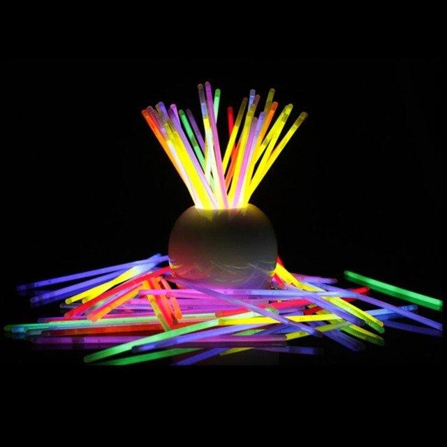 100 Pcs Lot Christmas Celebration Ceremony Neon Bracelets Night Glow Sticks Led Toys