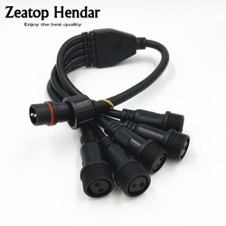 1 шт. M16 водонепроницаемый кабель 2 3 Pin 1 штекер на 2 3 4 5 гнездо Y-сплиттер адаптер штекер IP65 для светодиодных лент разъем светильник