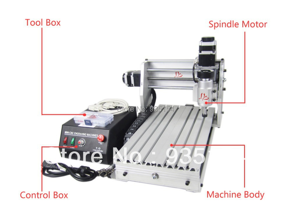 Cheap price 3 axis cnc milling machine 3020T-DJ, cnc machine for wood, pcb, acrylic cheap price mini cnc router 2520t 3 axis 200w spindle for new user or school tranining