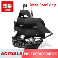 Lepin 16006 804PCS Building Bricks Blocks Pirates Of The Caribbean The Black Pearl Ship Compatible 4184