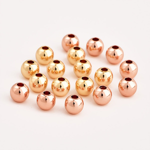 Image 5 - 100pcs/lot 6mm Charm Gold Fill Beads For Jewelry DIY Findings Handmade Bracelet Necklace Spacer Beads Jewelry Making Accessories