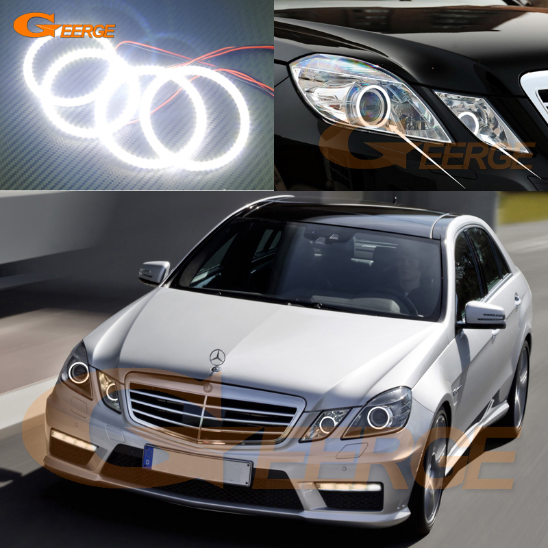 For Mercedes-Benz E-Class W212 E350 E550 E63 AMG 2010-2013 Xenon headlight Ultra bright smd led Angel Eyes kit halo rings dhl shipping 23pc x error free led interior light kit for mercedes for mercedes benz e class w212 e350 e400 e550 e63amg 09 15