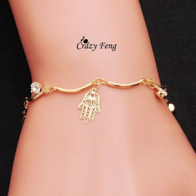 Frete grátis Louco Feng atacado Brand New HOT sale da moda cadeia mulheres jóias charm bracelet & bangles para mulheres