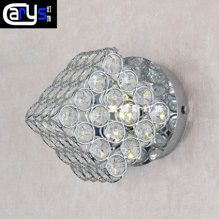 Modern corridor light crystal passageway entrance smallpox led ceiling lamp square crystal wall lamp octagonal bead K9Modern corridor light crystal passageway entrance smallpox led ceiling lamp square crystal wall lamp octagonal bead K9