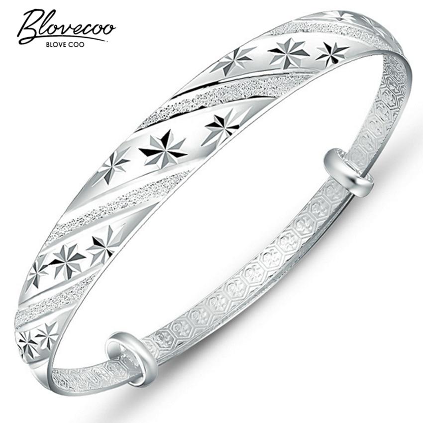 Fashion silver jewelry meteor shower sliding ring 999 female models fine silver bracelet bracelet wholesale