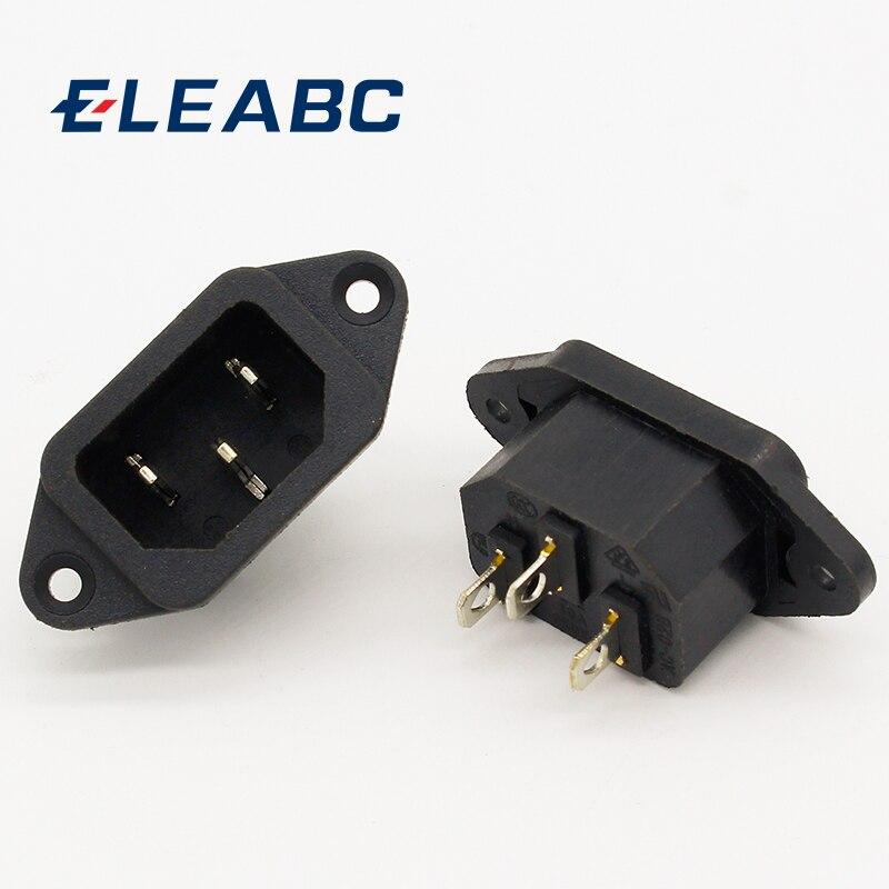 2017 Hot 5 Pcs 3P IEC 320 C14 Male Plug Panel Power Inlet Sockets Connectors AC 250V 10A