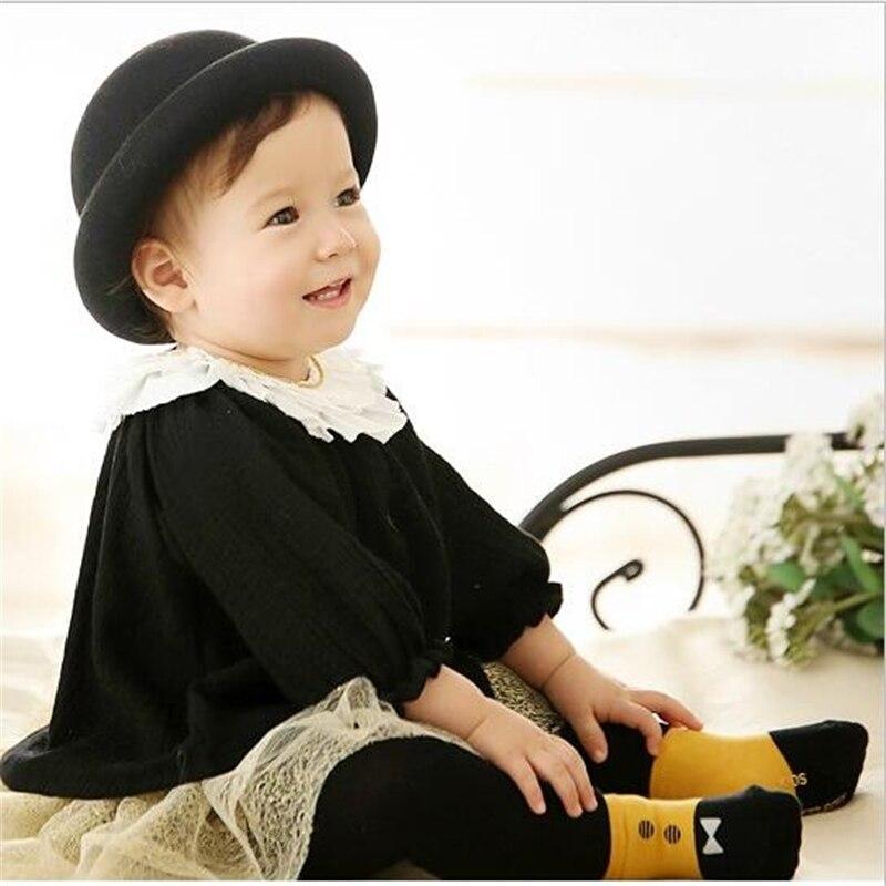1Pairs Baby Cotton Socks Kids Anti Slip Socks Floor Socks Boys Girls Winter Short Baby Kids Socks S/M for 0~4T
