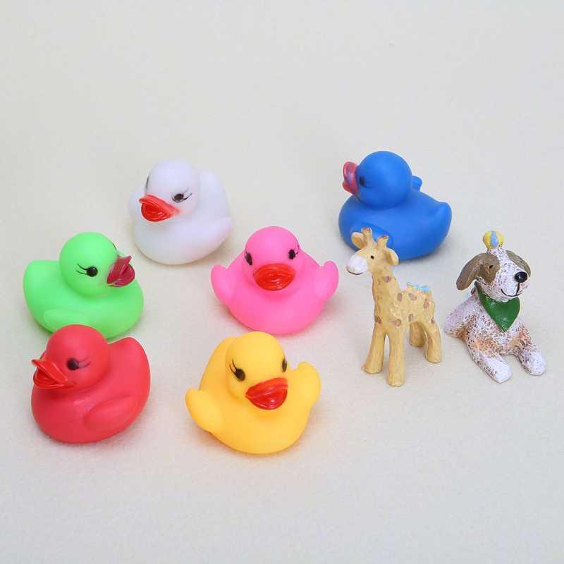 Светодиодный мигающий свет Резиновая уточка Ванна Игрушки для ванной для детей MA25