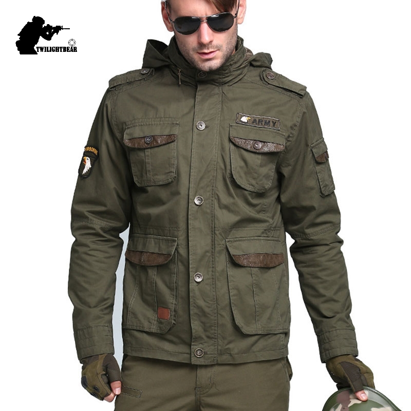 Military Men's Tactical Trench Designer 100% Cotton Slim Waist Classic Wadded Windbreaker Men Jacket Overcoat M~3XL AF5076