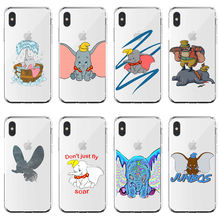 Cute cartoon animated Disneys Dumbo soft silicone Case For iPhone 11 Pro MAX 6 7 8Plus SE 5 5S 8 XR XS X10 Phone Cover