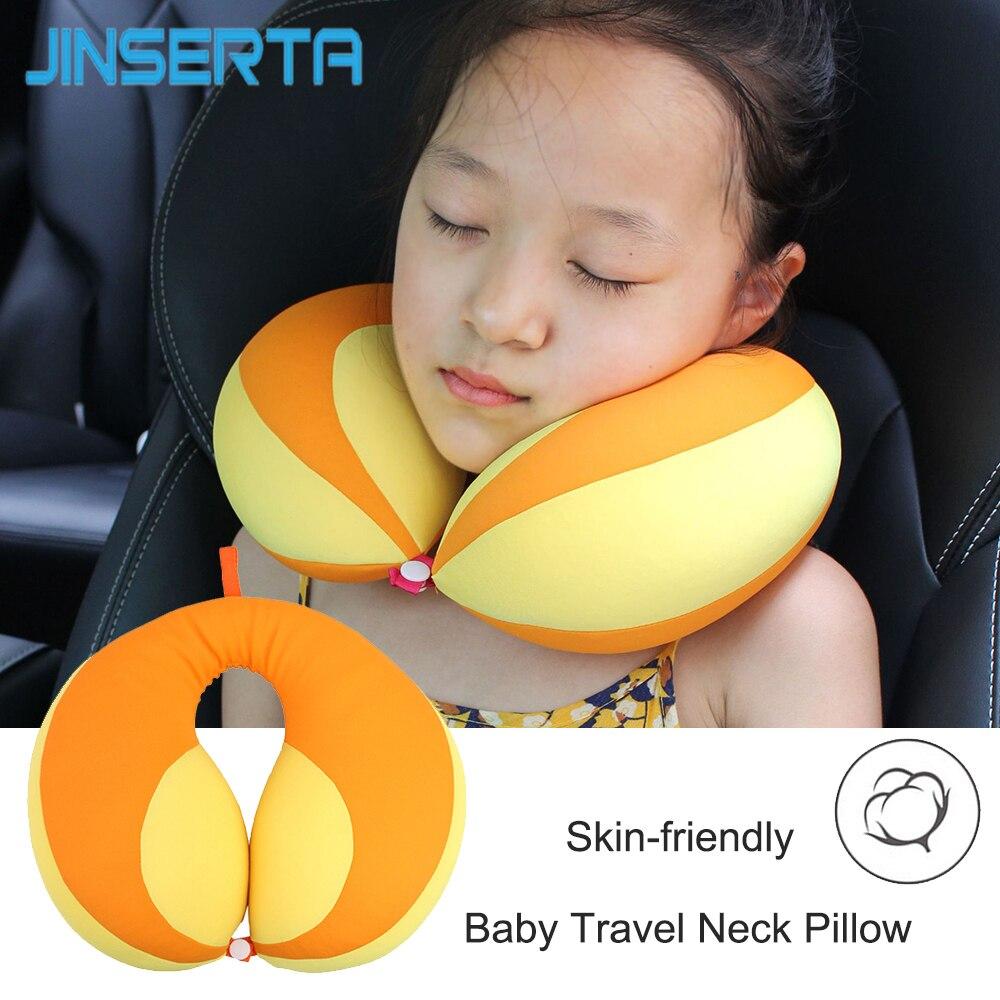 JINSERTA U-Shaped Pillow Kids Newbron Travel Neck Pillow For Car Headrest Air Cushion Child Car Seat Head Support Infant Baby