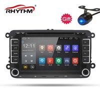2din dvd автомобильный радиоприемник проигрыватель gps Android 6,0 7 HD 1024x600 для VW Passat Golf MK5 MK6 Jetta T5 EOS POLO Touran seat Sharan BT Wi Fi
