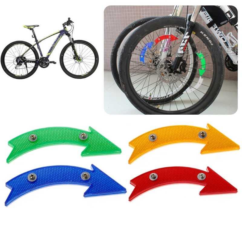 MTB ROAD Sepeda Sepeda Reflektor Bersepeda Panah Bentuk Brankas Peringatan Aksesoris