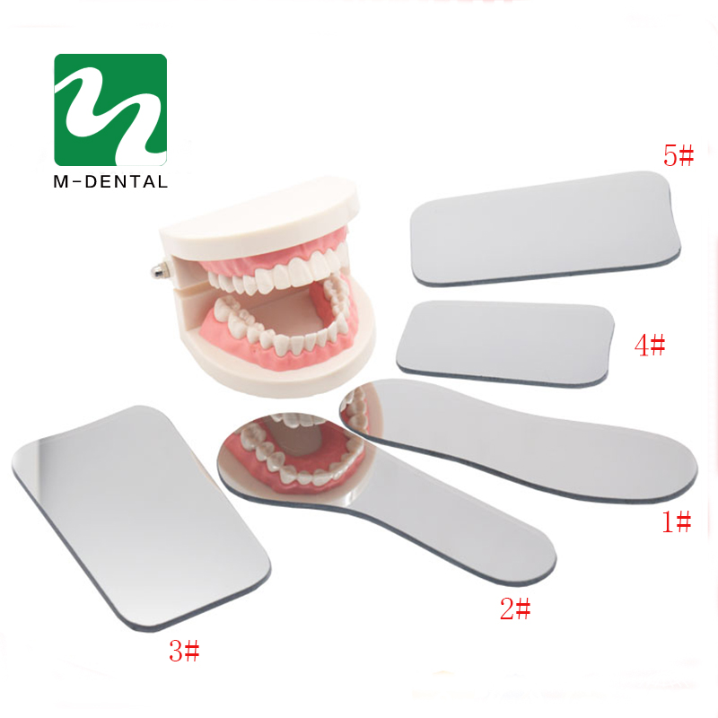 1 Set 2side Dental Intraoral Orthodontic Photographic Glass Mirror Rhodium Occlusal For Dental Clinic