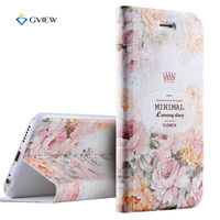 6 6S Plus Case 5 5 Inch Luxury PU Leather 3D Relief Printing Stereo Feeling Flip