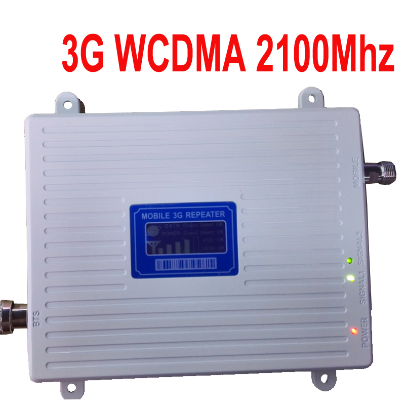New Model Big Power 30 Dbm Gain 65dbi LCD Display 3G 2100mhz Mobile Phone Signal Booster Repeater 3G WCDMA Booster Repeater 3G