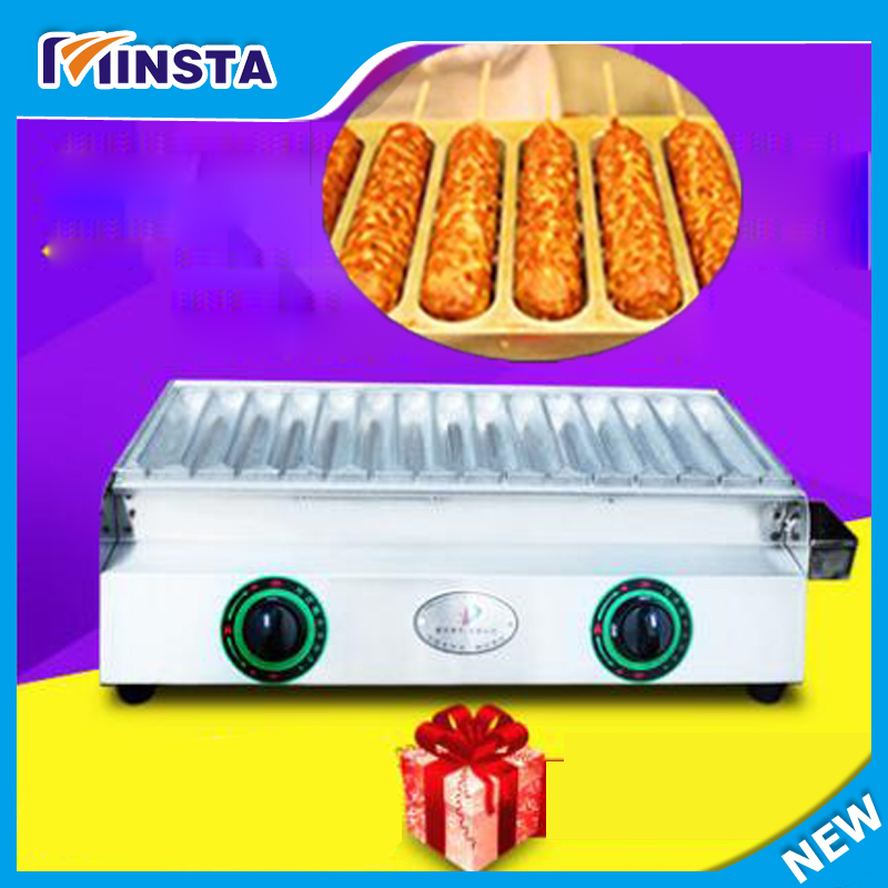 2017  new upgrade 15 pcs/lot hot dog lolly waffle machine / french hot dog / egg hot dog making machine  for sale electric muffin corn dog waffle making machine lolly hot dog waffle machine
