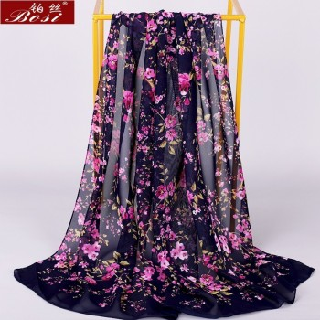 Chiffon scarf winter shawl schal scarves poncho women scarfs ethnic big flower hijab  luxury ladies retro schal160*60 new - discount item  20% OFF Scarves & Wraps