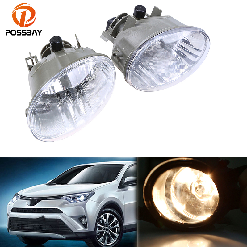 POSSBAY Car-styling Clear Lens Fog Light Fit for 2006 2007 2008 Toyota 4 Runner Fog Lights Lower Bumper Driving Lamp fog lights lamp for toyota yaris senda 2006 belta vios 2007 clear lens pair set wiring kit fog light set