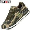 Keloch Любителей Моды Холст Обувь Камуфляж Военная Мужчины Повседневная Обувь Осень Дышащая Камуфляж Квартиры Мужчины Chaussure Femme