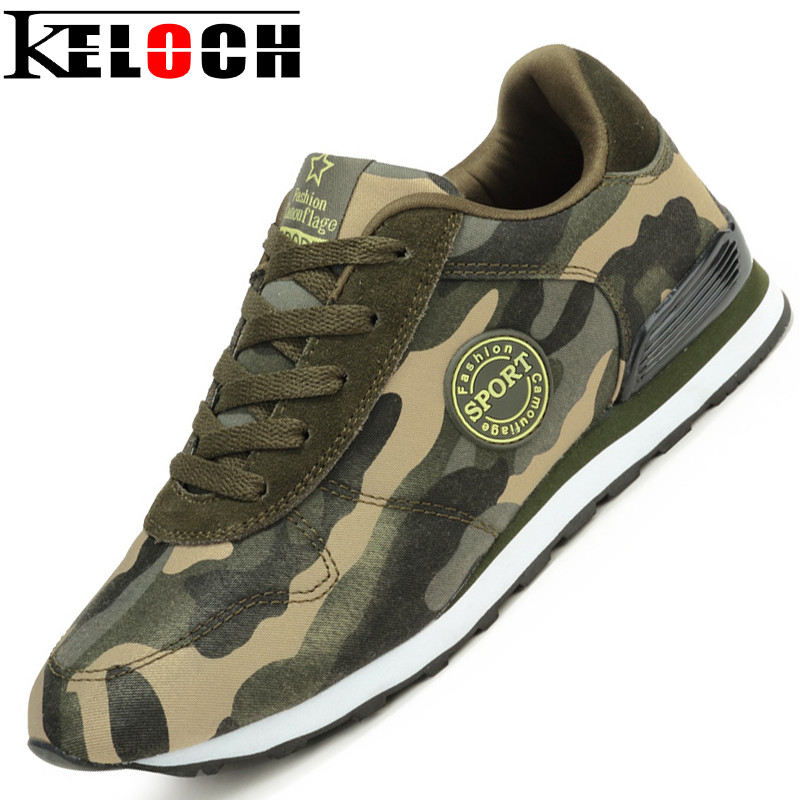 Keloch Fashion Lovers Canvas Shoes Camouflage Military Men ...