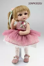 Mini silicone reborn dolls children toy doll perfect girl with big eyes to her birthday child BJD doll anime decorate the house