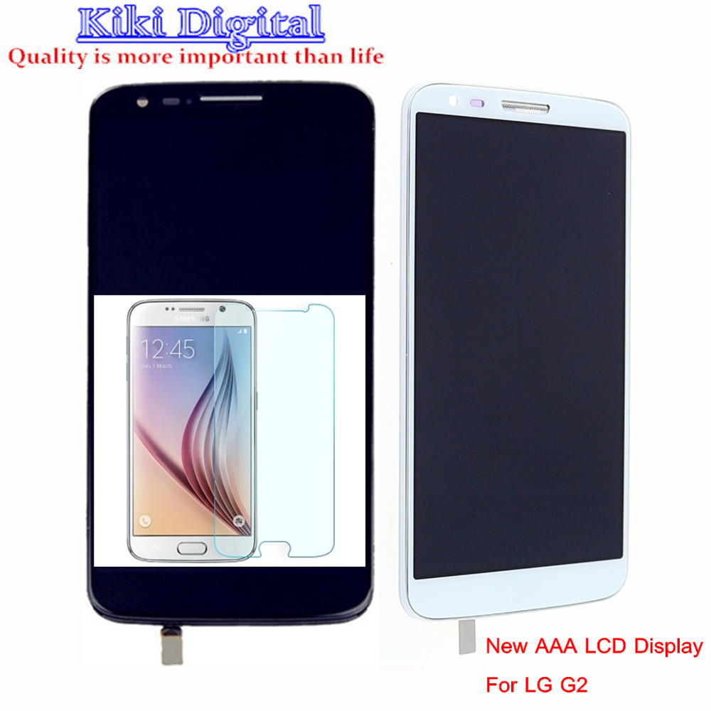 ФОТО Original quality LCD Display For LG G2 D802 D805 D800 D801 D803 LS980 F320 Touch Screen Assembly with Frame