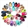 Candy Color Newborn Baby Kids Prewalker PU Leather Fringe Anti-slip Shoes Infant Toddler Girl Boy Moccasins Soft Moccs Shoes