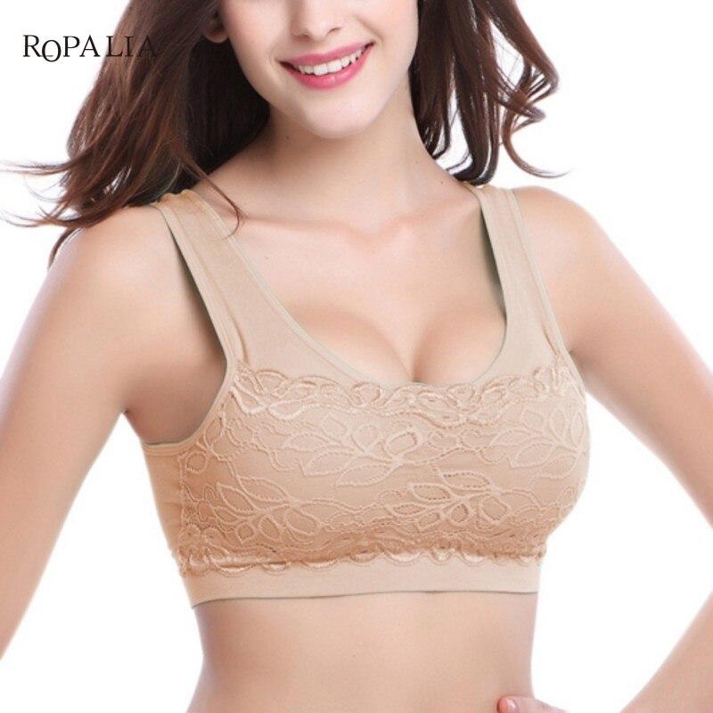 Buy Sexy Lace Underwear Women Seamless Bras Bralette Female Crop Top Bras Wire Free Padded Push Bra Brassiere