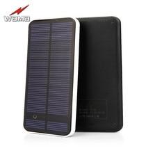 1x Wama Full Screen Ultra Thin Solar Panel Power Bank dual USB 5V 2A External Real
