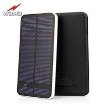1x Wama Full Screen Ultra Thin Solar Panel Power Bank dual-USB 5V/2A External Real 8000mAh Outdoors Compact Portable