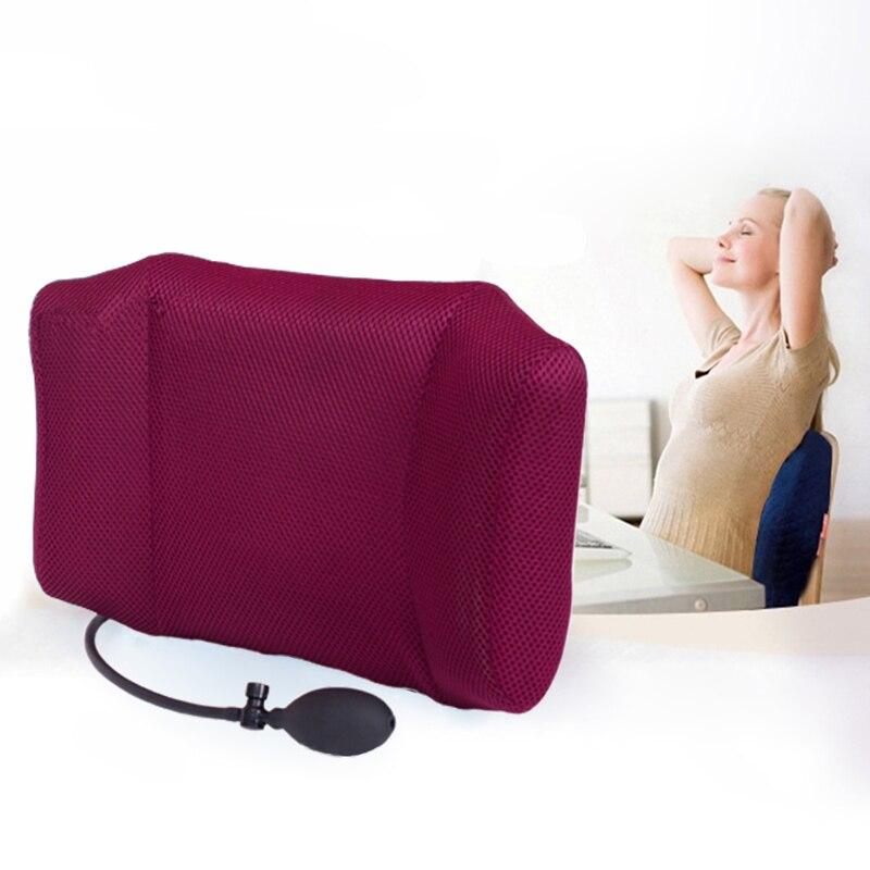 1 Pcs Portable Gonflable Soutien Lombaire Au Bas Du Dos Coussin Oreiller-pour Chaise de Bureau et Voiture Nerf Sciatique Soulagement de La Douleur